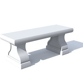 Classic concrete bench 3D Object | FREE Artlantis Objects Download
