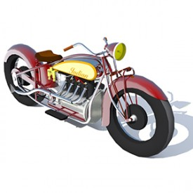 Indian Motorcycle 3D Object | FREE Artlantis Objects Download