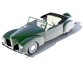 Lincoln Continental 1940 3D Object | FREE Artlantis Objects Download