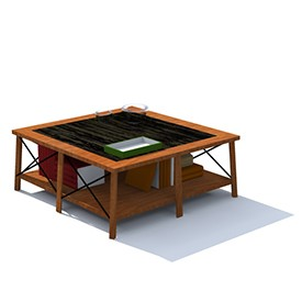 Center Coffe table vinta 3D Object | FREE Artlantis Objects Download