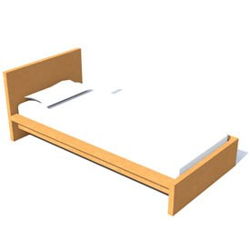 IKEA MALM Single Bed 3D Object | FREE Artlantis Objects Download