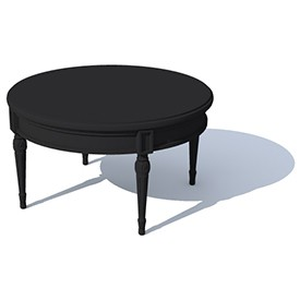 Round deco legs table 3D Object | FREE Artlantis Objects Download