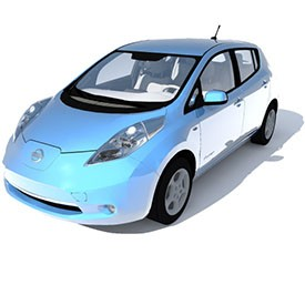 Nissan Leaf 3D Object | FREE Artlantis Objects Download