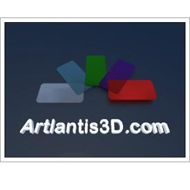 Colored Glass Postcard | Artlantis Postcards FREE Download