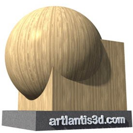 Wood vertical flader Shader | Artlantis Materials FREE Download
