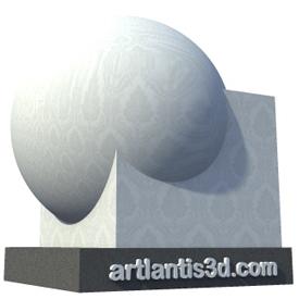 Wallpaper chateau white Shader   Artlantis Materials FREE Download