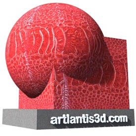 Red Snake Skin Shader | Artlantis Materials FREE Download
