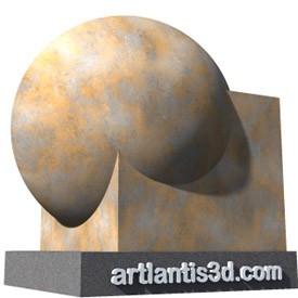 Rusty metal Shader | Artlantis Materials FREE Download