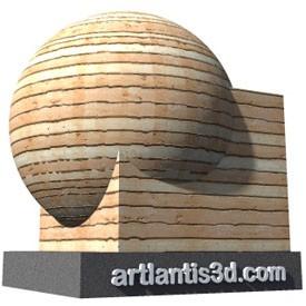 Red cedar siding Shader | Artlantis Materials FREE Download